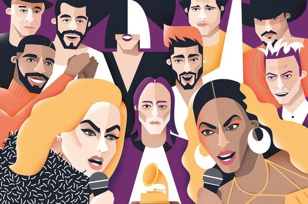Du doan Grammy 2017: Adele doi dau Beyonce hinh anh