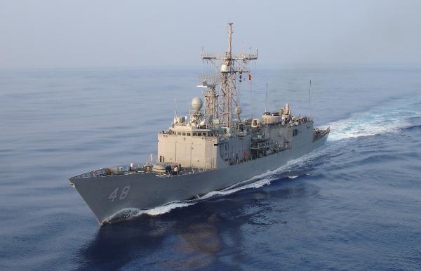 My ban hai tau khu truc co ten lua dan duong cho Dai Loan hinh anh 1 USS Vandegrift, tàu khu trục lớp Perry của Hải quân Mỹ. Ảnh: USNavy