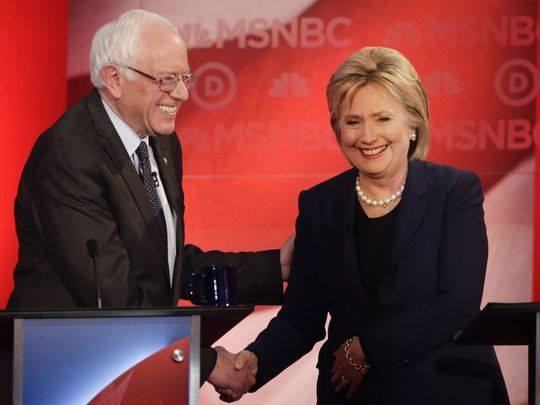 Ba Clinton gianh chien thang sit sao o Nevada hinh anh