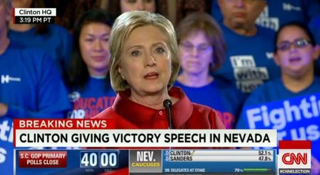 Ba Clinton gianh chien thang sit sao o Nevada hinh anh 1