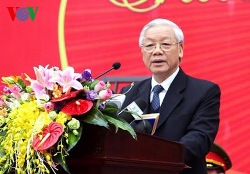 Tong bi thu Nguyen Phu Trong tham luc luong Canh sat co dong hinh anh 2