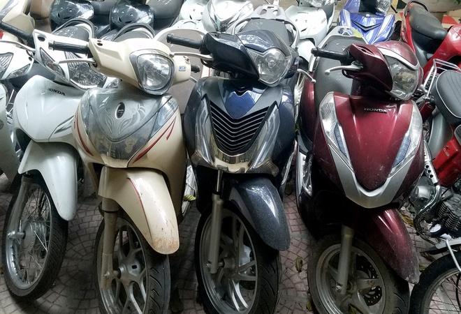 Cong an Ha Noi pha 7 bang nhom trom hon 600 xe may hinh anh