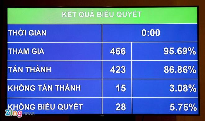 86,86% dai bieu Quoc hoi tan thanh thong qua Luat An ninh mang hinh anh 1