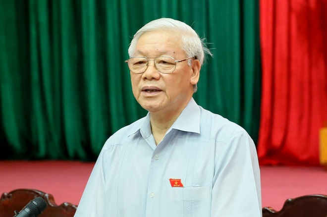 Tong bi thu Nguyen Phu Trong noi ve viec ke xau kich dong bieu tinh hinh anh