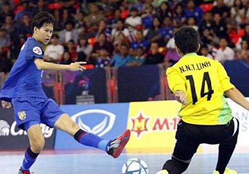 DT nu futsal VN thua Thai Lan 2-3 sau loat sut luan luu o giai chau A hinh anh