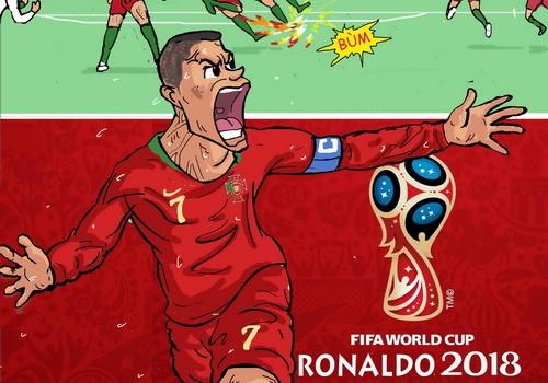 Hi hoa Ronaldo va 'gau Nga' bung sang o World Cup 2018 hinh anh