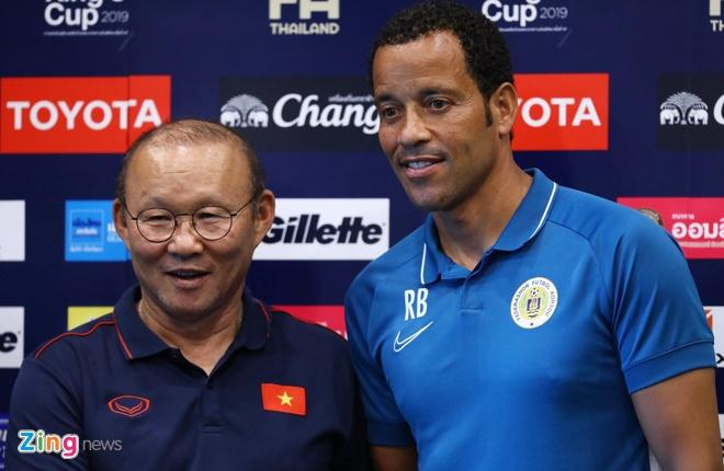 HLV Park Hang-seo trong buổi họp báo trước chung kết King's Cup 2019. Ảnh: Quang Thịnh.