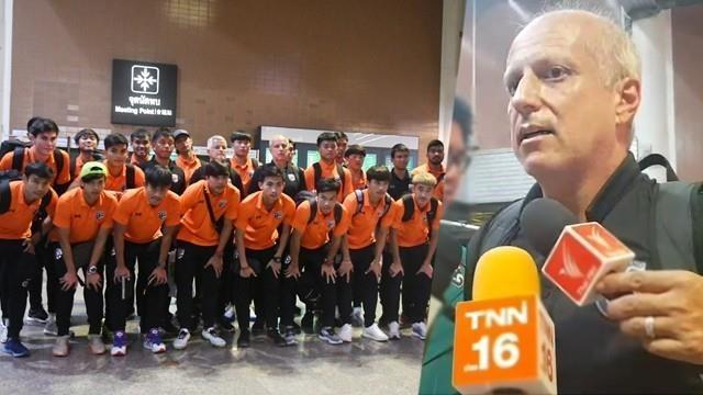 HLV U23 Thai Lan tu chuc sau tham bai Singapore anh 1
