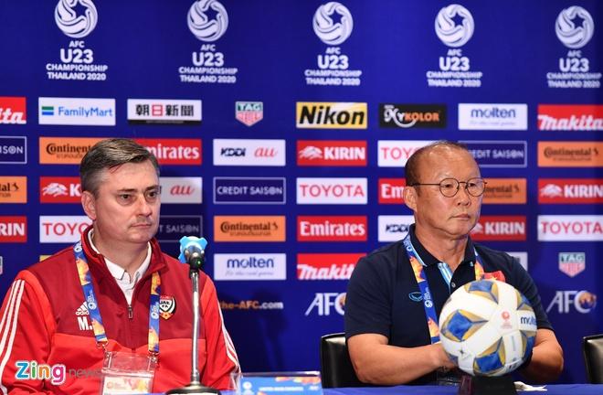 HLV Park thua nhan U23 Viet Nam ap luc vi tung thua UAE o ASIAD hinh anh 1 HLV_zing.jpg