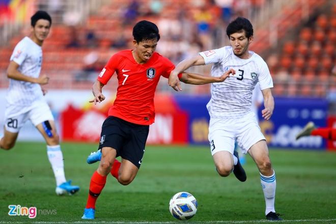 HLV Uzbekistan: 'Han Quoc la doi so mot U23 chau A hien nay' hinh anh 1 U23_Han_Quoc_vs_Uzbekistan_1_zing.jpg