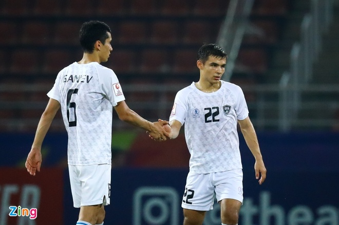 HLV Uzbekistan: 'Han Quoc la doi so mot U23 chau A hien nay' hinh anh 2 U23_Han_Quoc_vs_Uzbekistan_2_zing.jpg