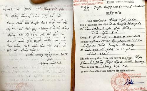 An 'la' o Tuyen Quang: Bo cong an yeu cau lam ro hinh anh