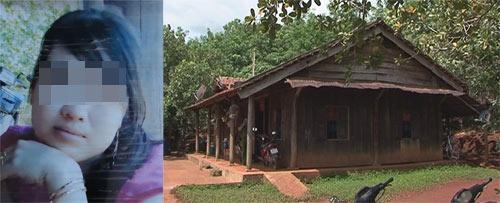 Di ảnh chị Nguyễn Thị Liên và căn nhà chị đang ở cùng cha mẹ đẻ sau khi li hôn.