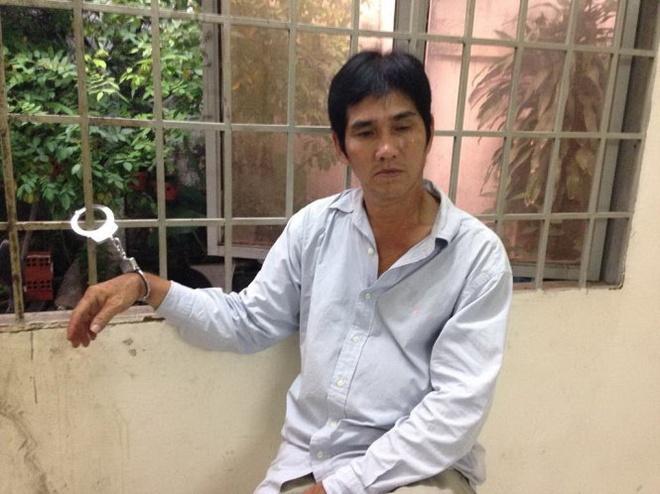 Mai Thanh Phương tại cơ quan công an.