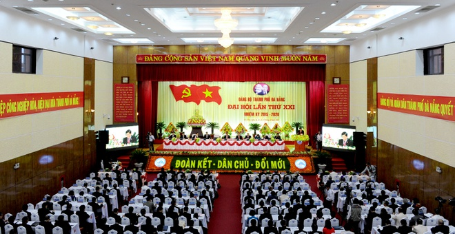 Da Nang tuong niem ong Ba Thanh o dai hoi Dang bo hinh anh 1 Toàn cảnh đại hội. Ảnh: Văn Nở.