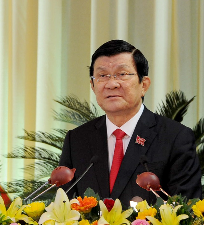 Da Nang tuong niem ong Ba Thanh o dai hoi Dang bo hinh anh 2 Chủ tịch nước Trương Tấn Sang phát biểu chỉ đạo đại hội. Ảnh: Văn Nỡ.