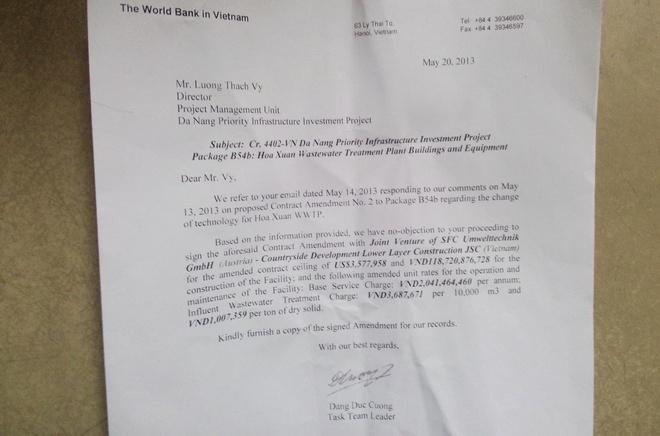 'Da Nang khong lien quan den sai pham cua SFC VN' hinh anh 1 Thư phúc đáp