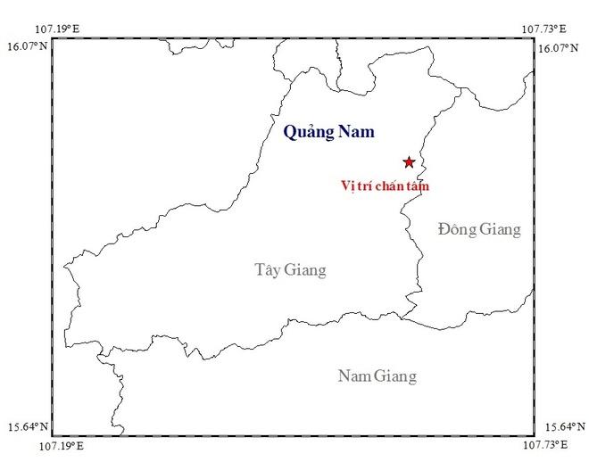 Dong dat 3,4 do richter o Quang Nam hinh anh 1
