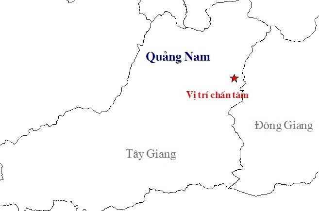 Dong dat 3,4 do richter o Quang Nam hinh anh