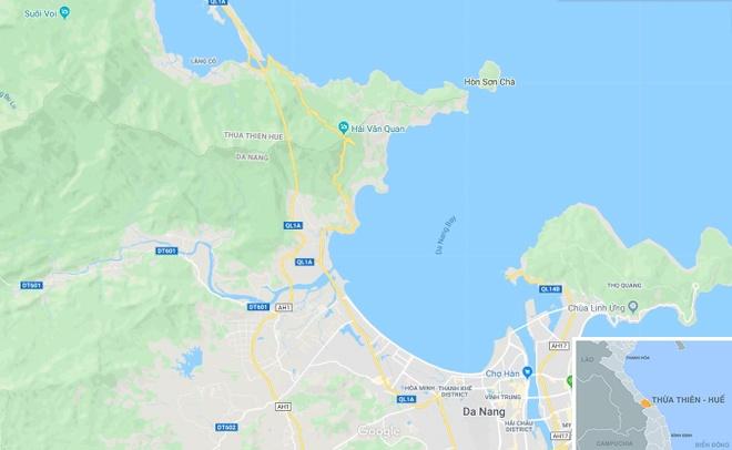 Tau SE3 trat banh tren deo Hai Van hinh anh 3 map_hue_tauhoa.jpg