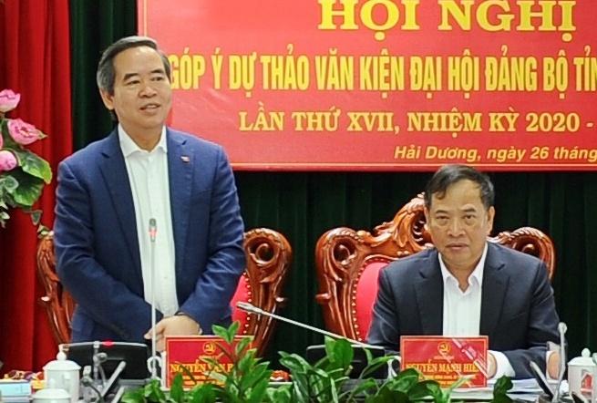 Ong Nguyen Van Binh noi ve dinh huong phat trien cong nghiep o Hai Duong anh 1