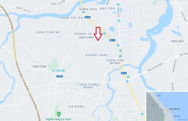 Tau tong chet nguoi nam tren duong ray hinh anh 2 map_danang_hoachau.jpg