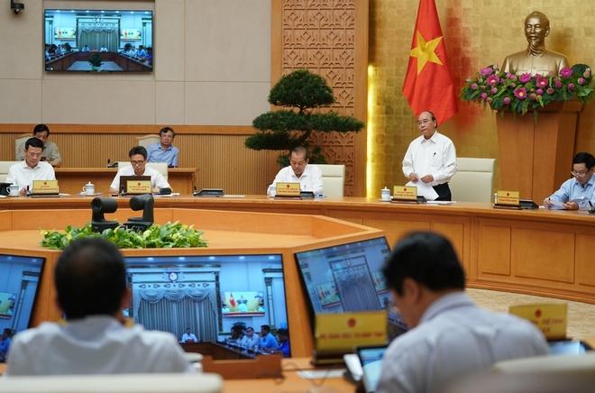 Thủ tướng chủ trì cuộc họp Thường trực Chính phủ ngày 25/7. Ảnh: VGP.
