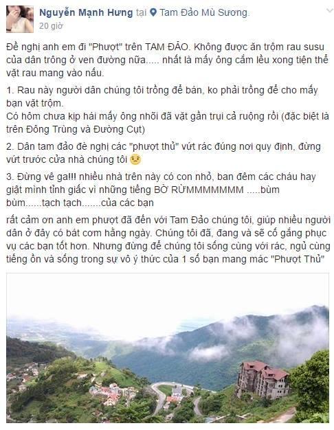 Choi ngong va loat hanh dong lam hoen o hinh anh phuot thu hinh anh 1