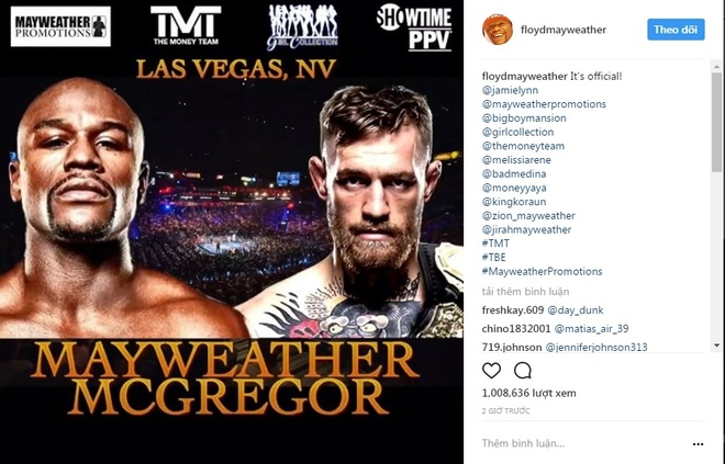 Tran dau kinh dien Mayweather vs McGregor an dinh ngay to chuc hinh anh 2