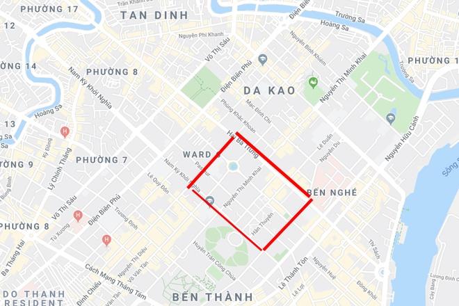 Cấm nhiều tuyến đường khu trung tâm TP.HCM