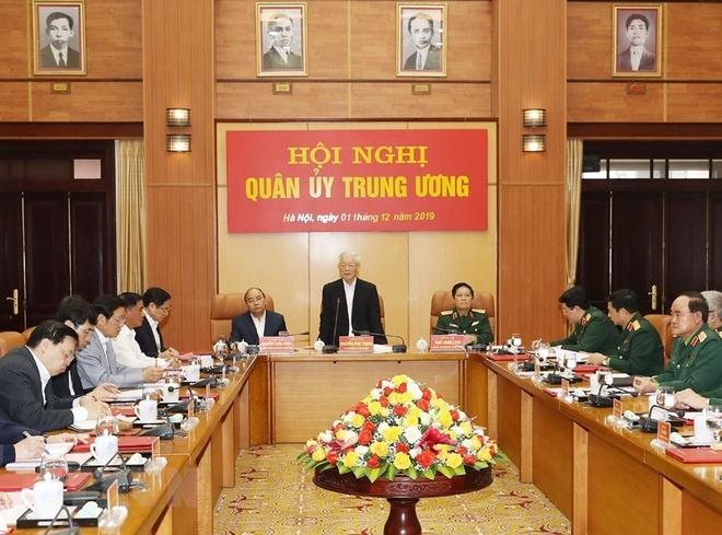 Tong bi thu Nguyen Phu Trong chu tri Hoi nghi Quan uy Trung uong hinh anh 3