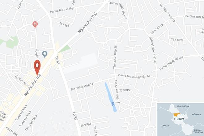 Khu vực xảy ra vụ tai n ạn. Ảnh:Google Maps.