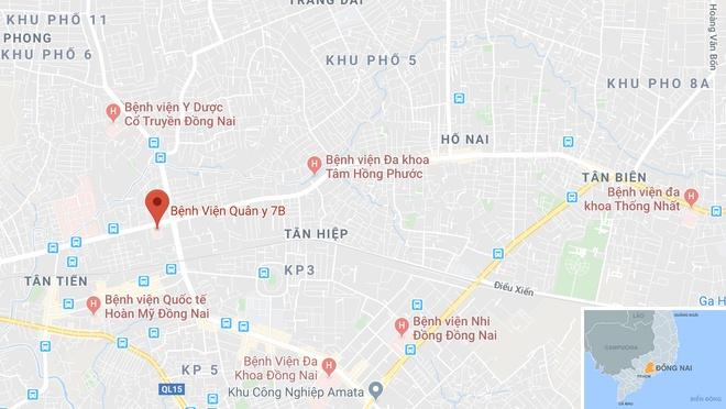 Thieu uy cong an tu nan sau va cham xe dau keo hinh anh 2 map_dongnai_tainan.jpg