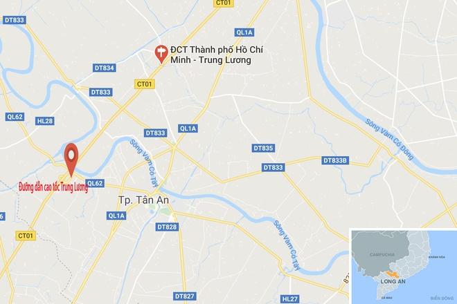 Xe bon cho 7 tan axit lat o Long An hinh anh 2 map_longan_tainan.jpg