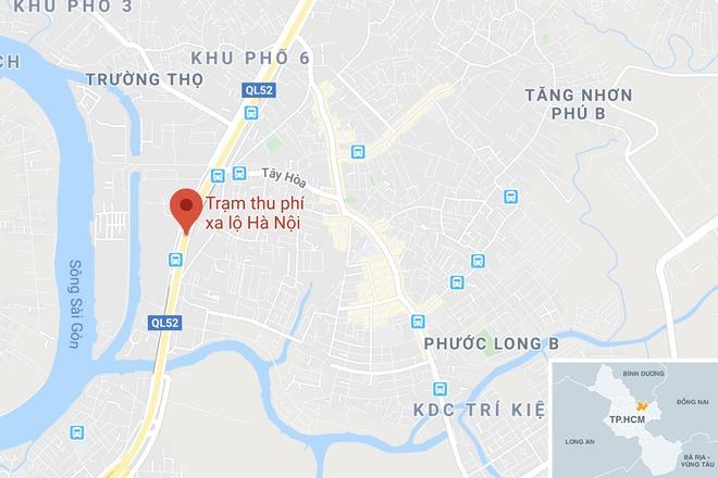Tong duoi xe dau keo, nguoi dan ong o TP.HCM tu vong hinh anh 2 map_thuduc_tainan.jpg