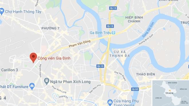 Nguoi dan ong tu vong trong cong vien o TP.HCM hinh anh 2 map_govap_tuvong_copy.jpg
