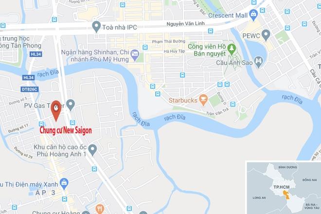 Chu tich truong Doanh nhan BizLight roi tu tang 14 chung cu New Saigon hinh anh 2 map_nhabe_tainan.jpg