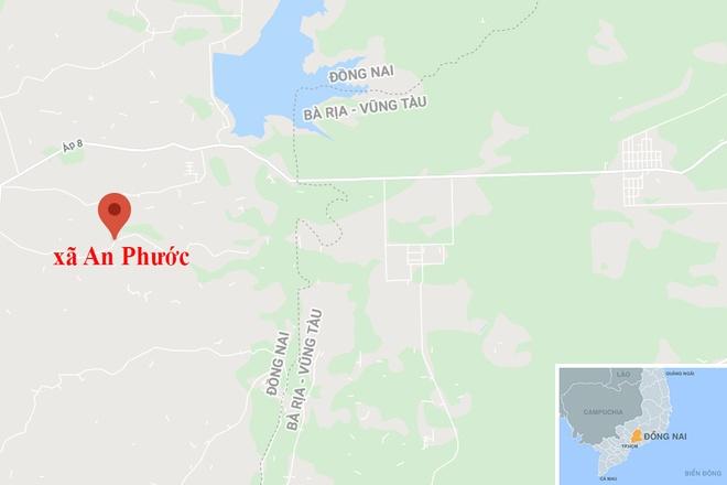 Thanh nien tu vong ben canh xe may duoi suoi o Dong Nai hinh anh 2 map_dongnai_chet.jpg
