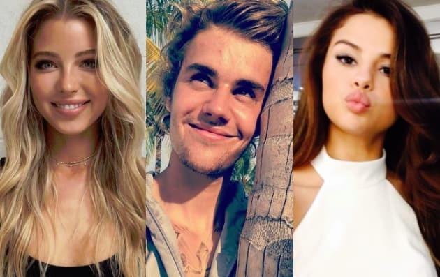 Khong phai Selena Gomez, Justin Bieber dan nguoi dep khac den nha tho hinh anh