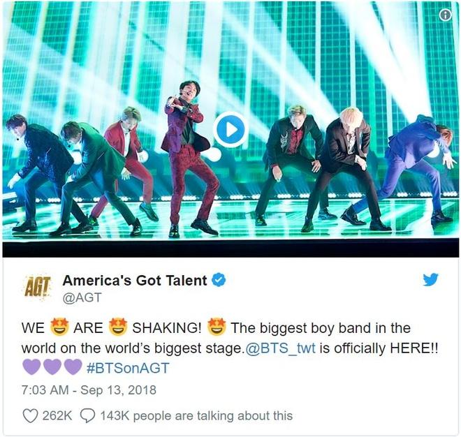 America's Got Talent goi BTS la nhom nhac nam dinh nhat the gioi hinh anh 1