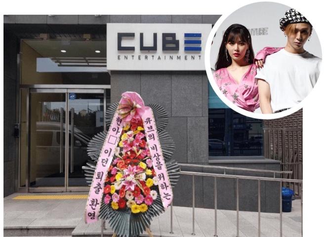 Roi cong ty, HyunA va ban trai bi antifan gui vong hoa che gieu hinh anh 1