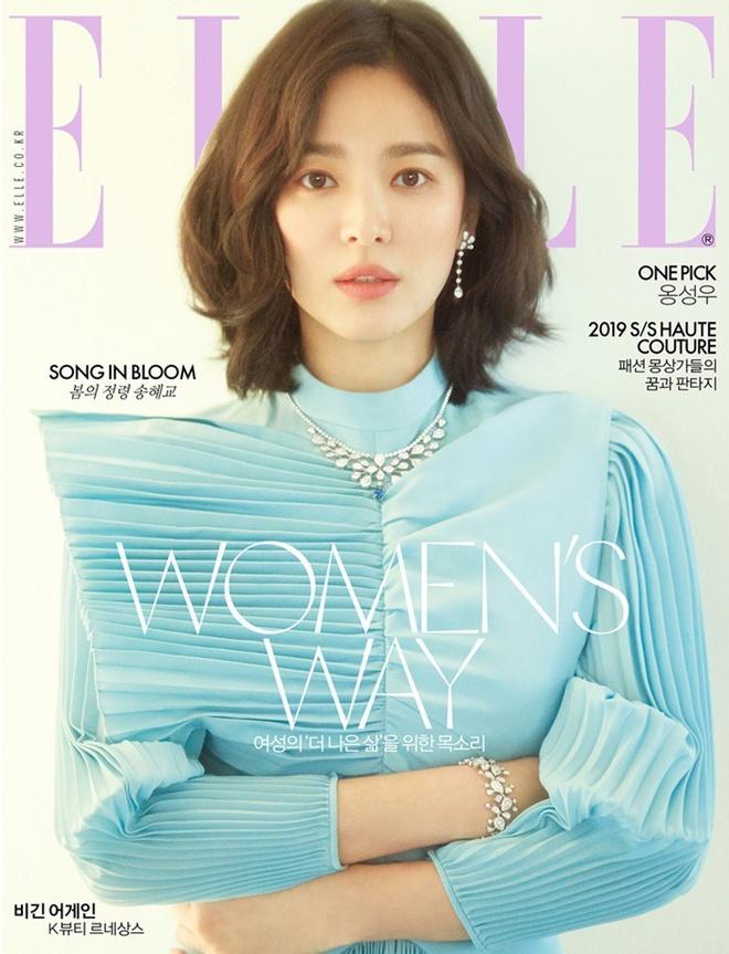 Song Hye Kyo long lay nhu 'nu than mua xuan' tren tap chi Elle hinh anh 1
