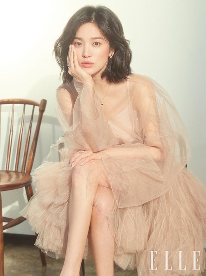 Song Hye Kyo long lay nhu 'nu than mua xuan' tren tap chi Elle hinh anh 3