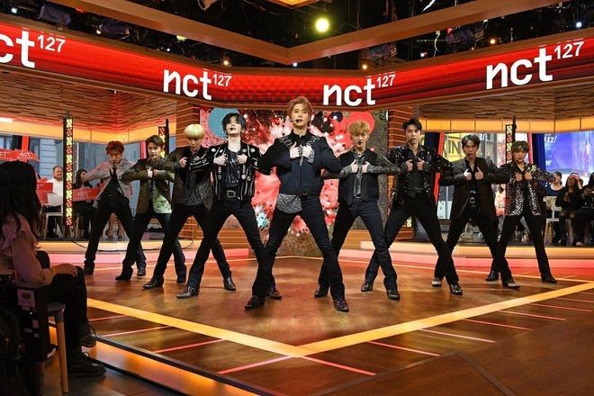 NCT 127 tu tin hat live 'Superhuman' tai My hinh anh