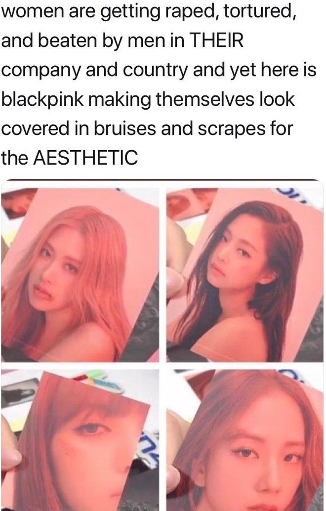 Black Pink bi chi trich vi trang diem dong cham phu nu bi bao hanh hinh anh 1