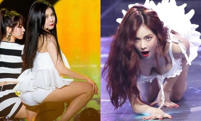 'Nu hoang goi cam Hyuna' nong bong mat voi bikini va quan ngan cun hinh anh 5