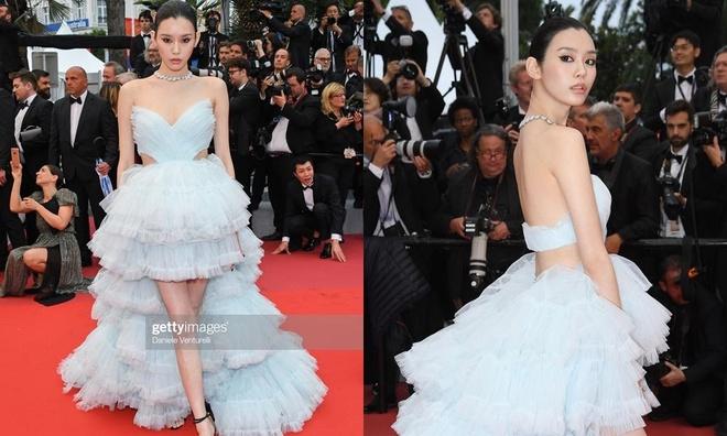 He Mong Dao goi cam, Ha Tue mac lo tren tham do Cannes 2019 hinh anh 3