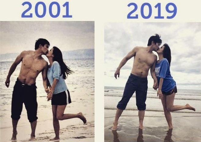 [K-Star]: Cha In Pyo and his wife recreated the romantic kiss after 18 years