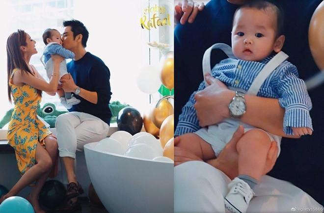Hoa hau Hong Kong don sinh nhat ben tai tu TVB va con trai hinh anh 2