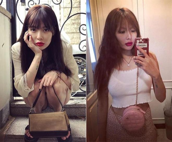 'Nu hoang sexy' HyunA dien bodysuit khoet nguc sau hinh anh 7